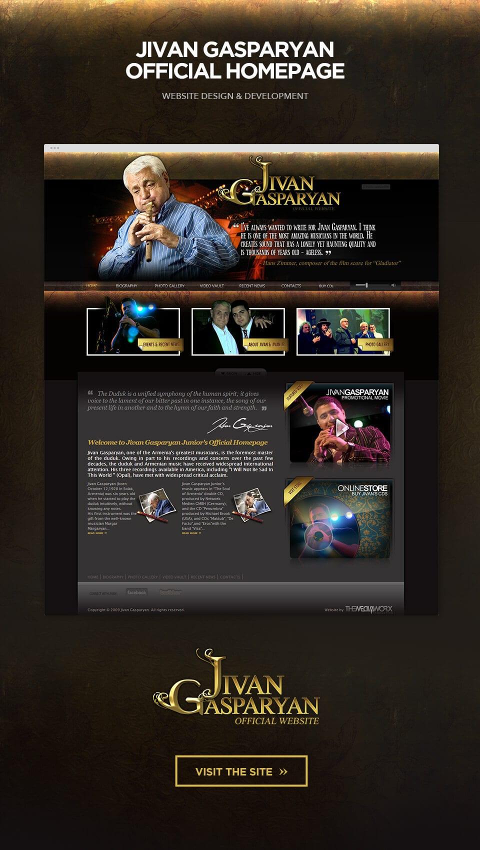 Musician Website Design Los Angeles