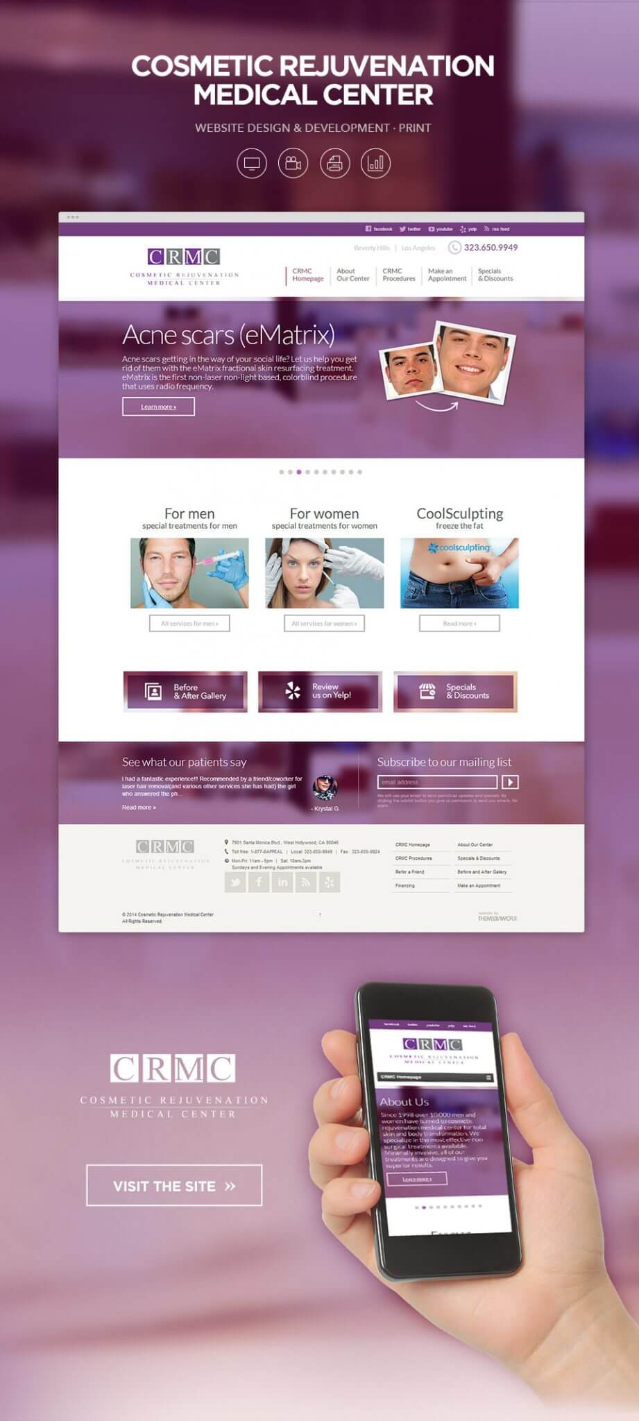 Website design for Salons