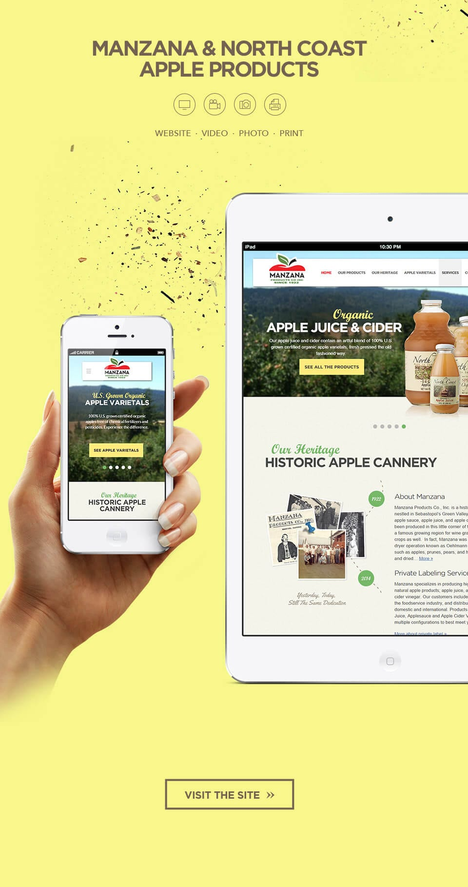 Website design and video production for Juice Companies Los Angeles