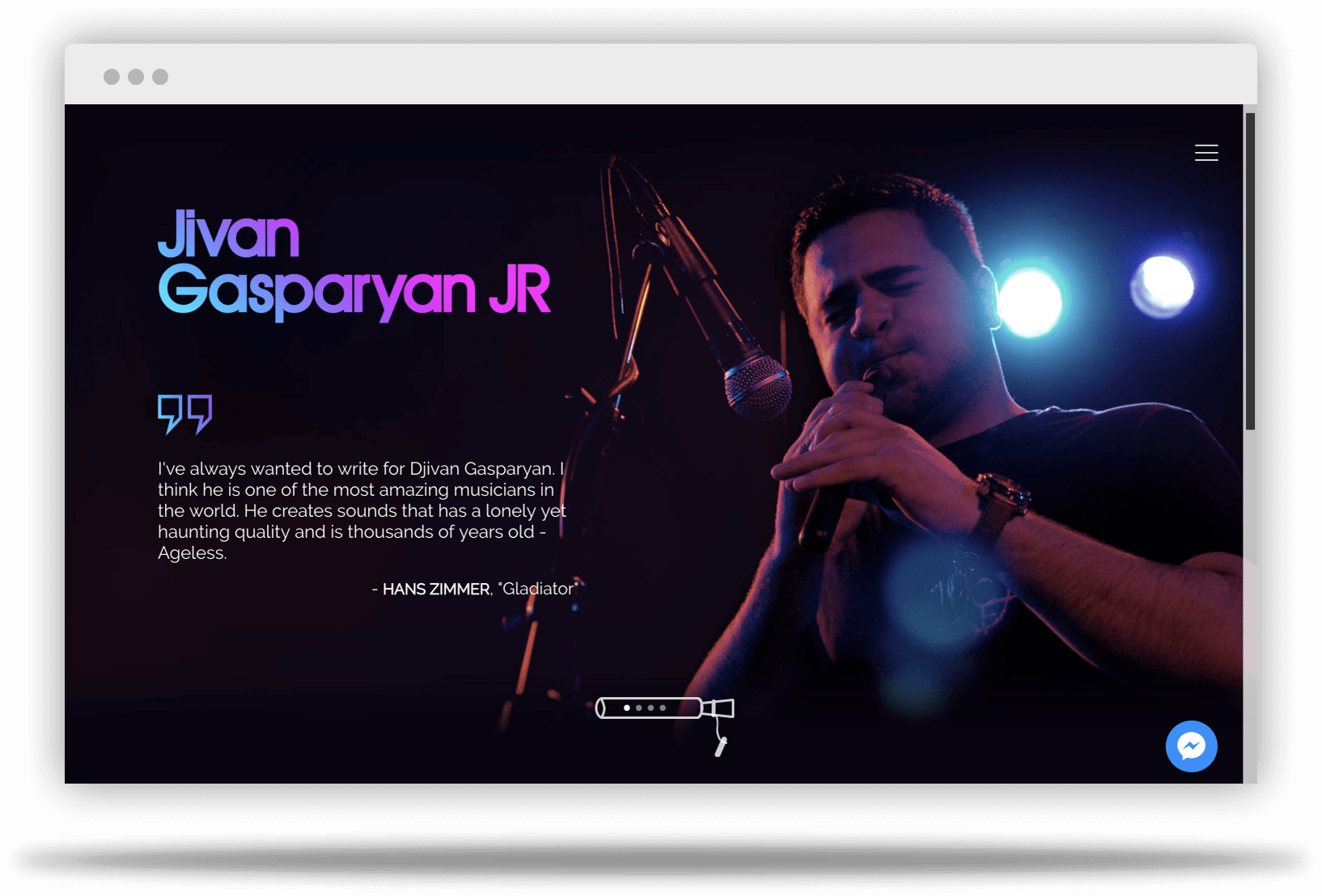 Musician website design Los Angeles, Glendale