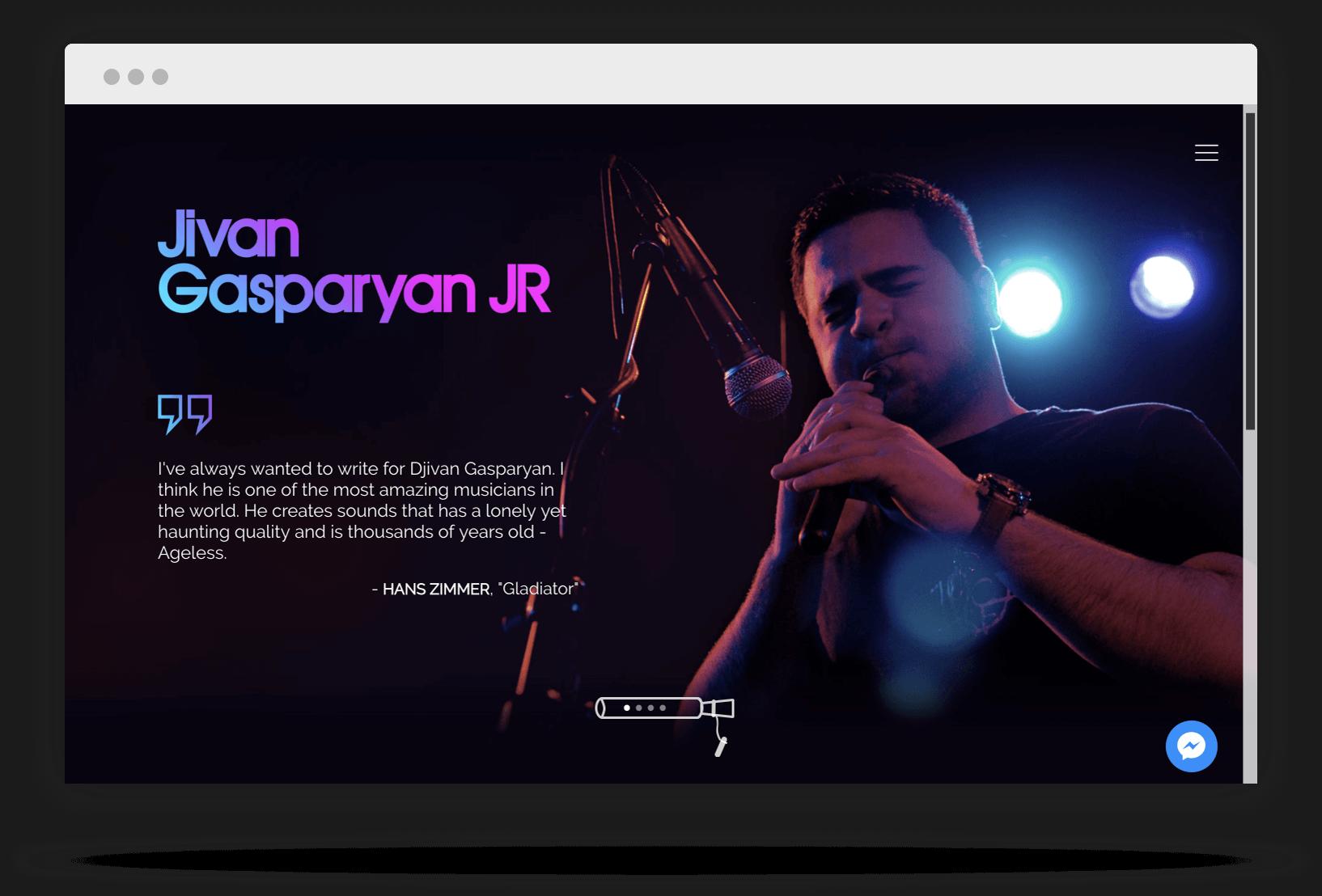 Musician website design Los Angeles, Glendale